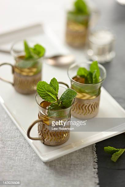 Moroccan tea in traditional cups