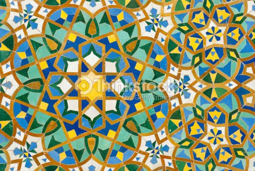 Sfondo vintage con piastrelle marocchine foto stock thinkstock