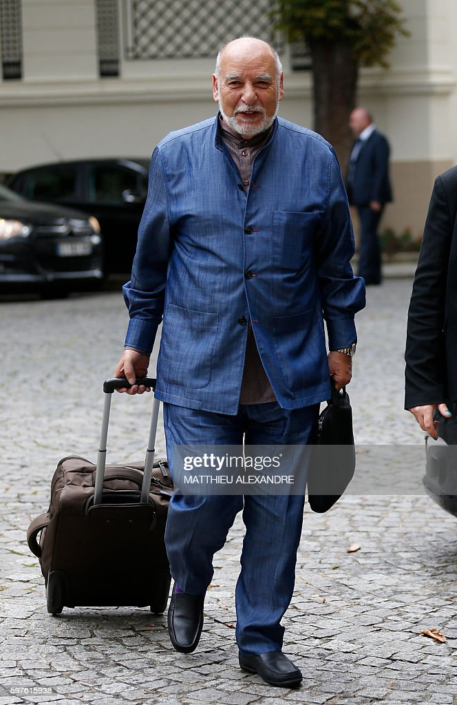 Moroccan writer Tahar Ben Jelloun arrives for a meeting with Interior minister and representatives of the Muslim community on August 29 2016 in Paris...