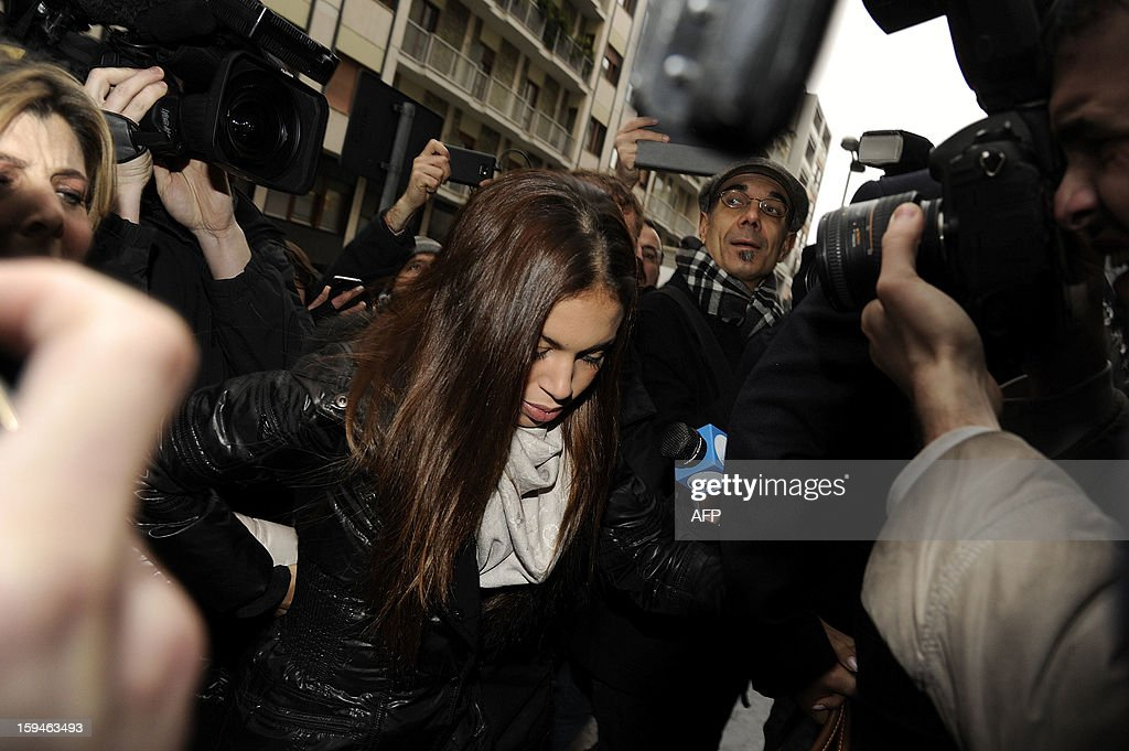 Moroccan-born Karima El-Mahroug -- better known by her nickname as 'Ruby the Heart Stealer' arrives for to testify at Milan's court on January 14, 2013. The exotic dancer at the centre of a sex trial against Italy's Silvio Berlusconi is expected to testify for the first time in court on Monday as the media tycoon bids for a fourth term as prime minister.