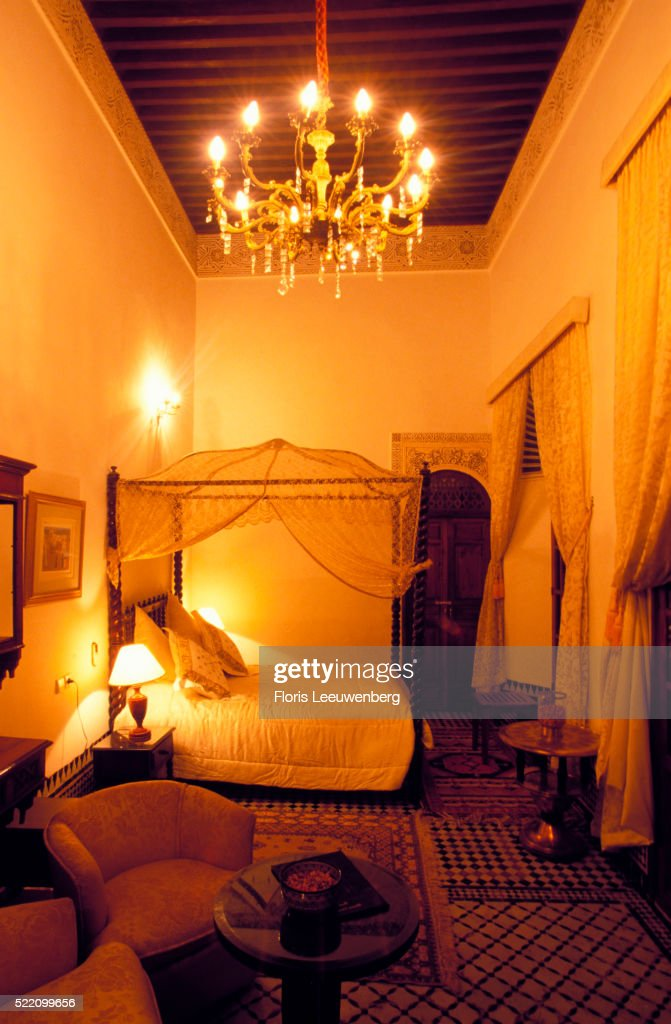 Moroccanstyle Bedroom At A Riad Stock Photo Getty Images