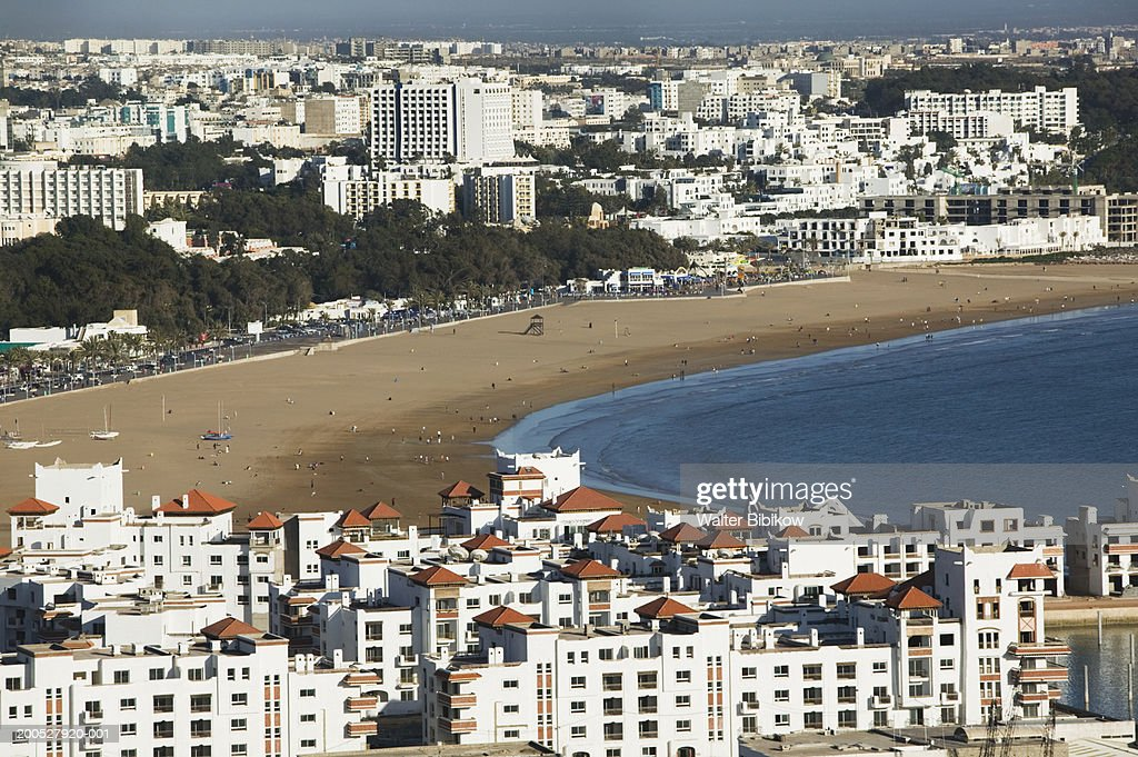 Morocco, Agadir, apartments on beach