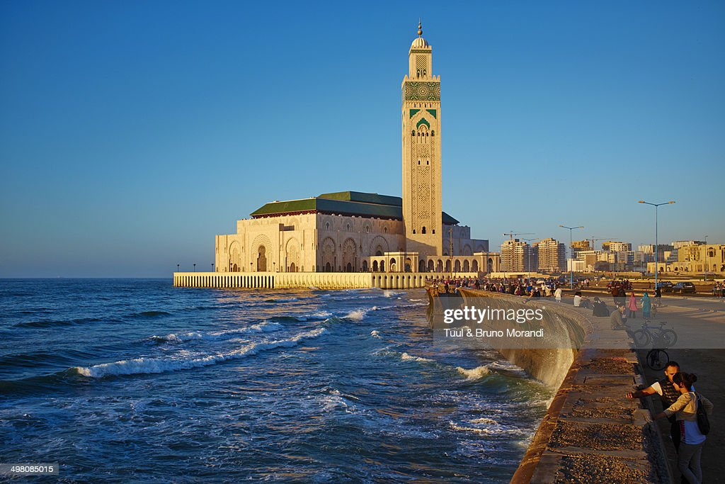 Morocco, Casablanca,  Hassan II mosque : Stock Photo