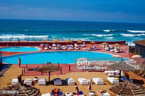 Morocco casablanca the corniche tahiti beach club stock for Club rabat piscine