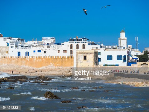 Morocco, Essaouira, Sqala de la Kasbah, sea wall of old town