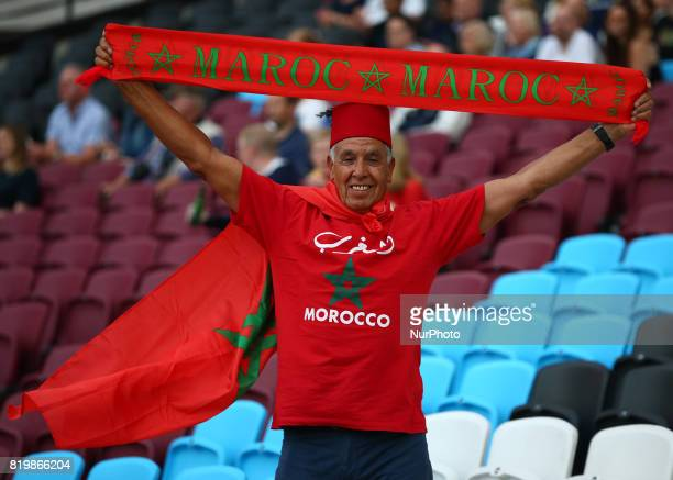 Morocco Fan during World Para Athletics Championships at London Stadium in London on July 19 2017