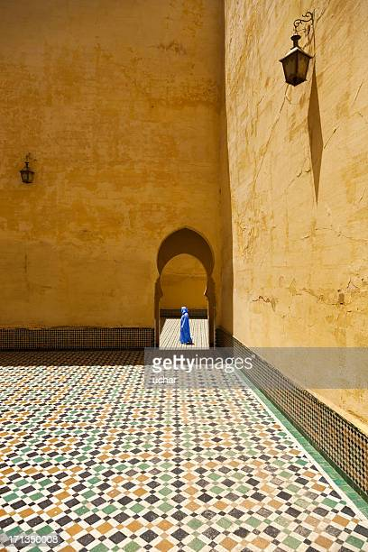 Morocco in mosque man walking