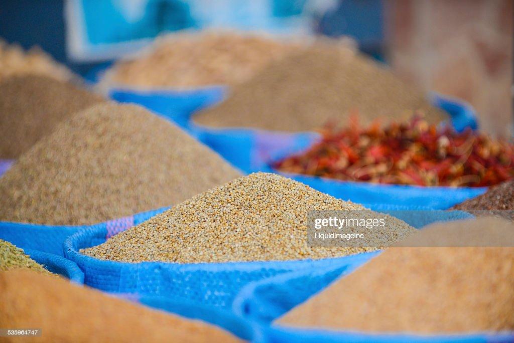 Morocco Market Spices : Stock Photo