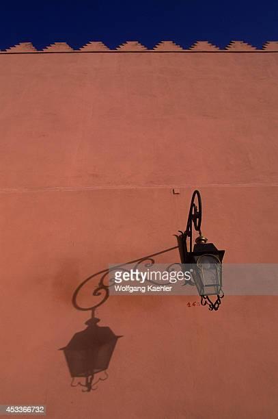 Morocco Marrakech Koutoubia Mosque Square Wrought Iron Lamp Shadow