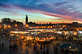 Morocco, Marrakesh, Square called Djemaa El Fna