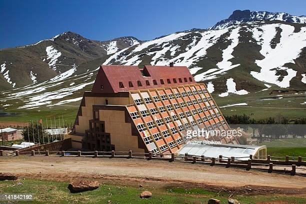 Morocco, South of Marrakech-OUKAIMEDEN, Ski Resort in the High Atlas Mountains (e. 2600m) Springtime, Kenzi Louka Hotel