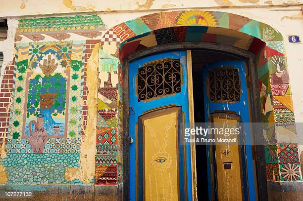 Morocco, Tangier (Tanger), door on the old city
