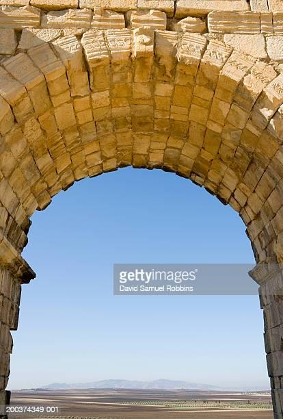 Morocco, Volubilis, Roman ruins archway