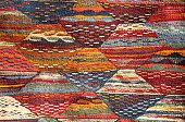 Closeup of a moroccoan carpet