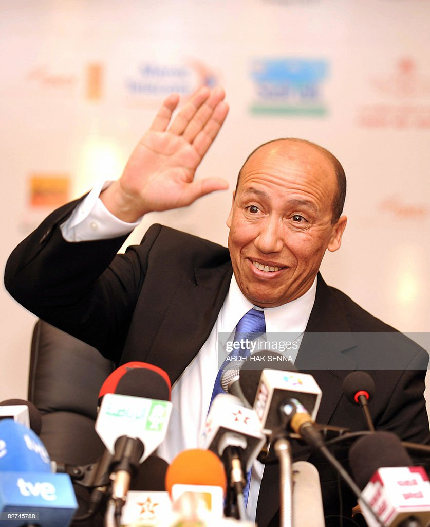 Morocco's 1984 Olympic 5000 metres champion Said Aouita attends a press conference in Rabat on September 9 2008 Aouita was appointed national...