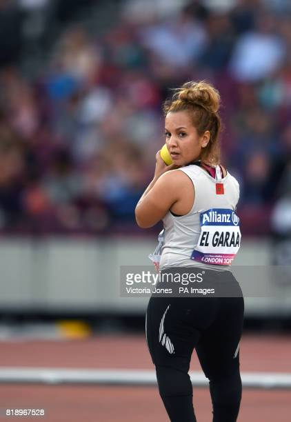 Morocco's Hayat El Garaa competes in the Women's Shot Put F41 Final during day six of the 2017 World Para Athletics Championships at London Stadium