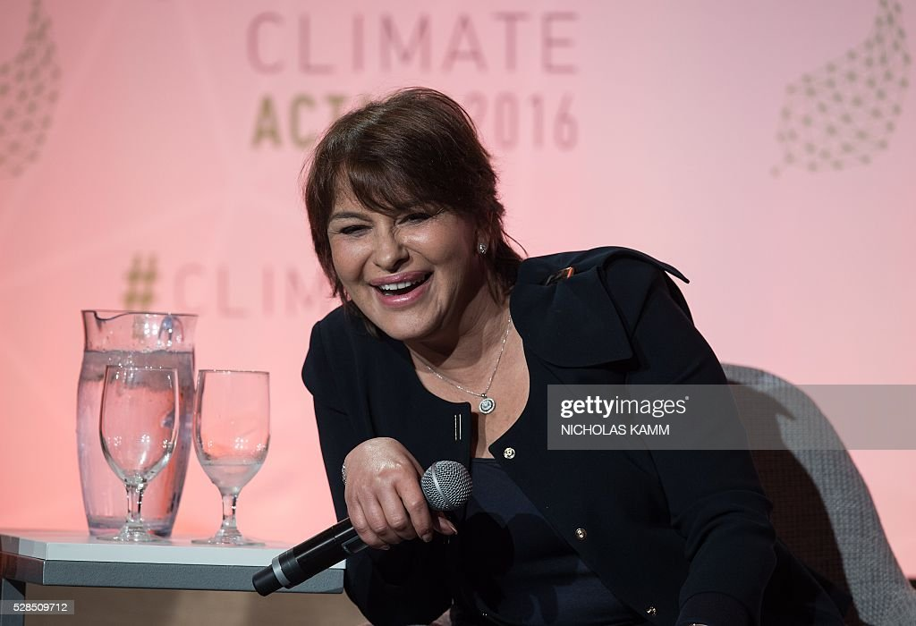 Morocco's Minister Delegate for the Environment Hakima el Haite participates in a conversation on 'Transformation the World's Mobility: Galvanizing Action and Investments' at the Climate Action 2016 conference in Washington, DC, on May 5, 2016. / AFP / NICHOLAS