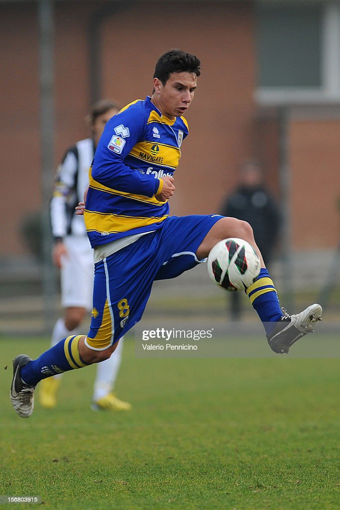 Moroni of FC Parma in action during the Juvenile match between Juventus FC and FC Parma at Juventus Center Vinovo on November 21, 2012 in Vinovo, Italy.