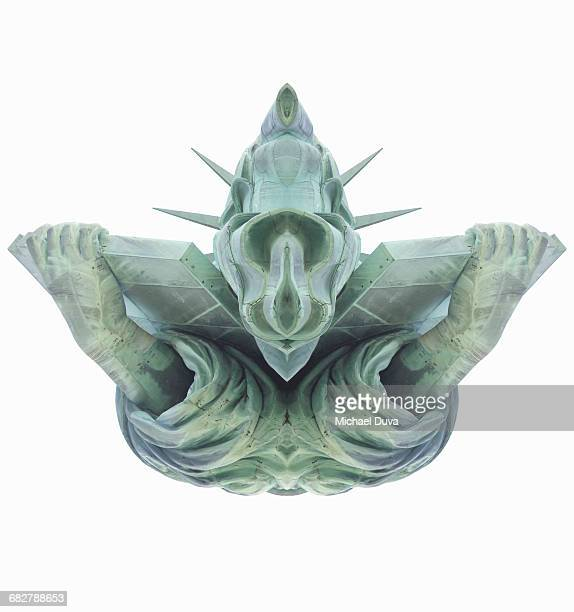 morphed symmetrical parts of the statue of liberty