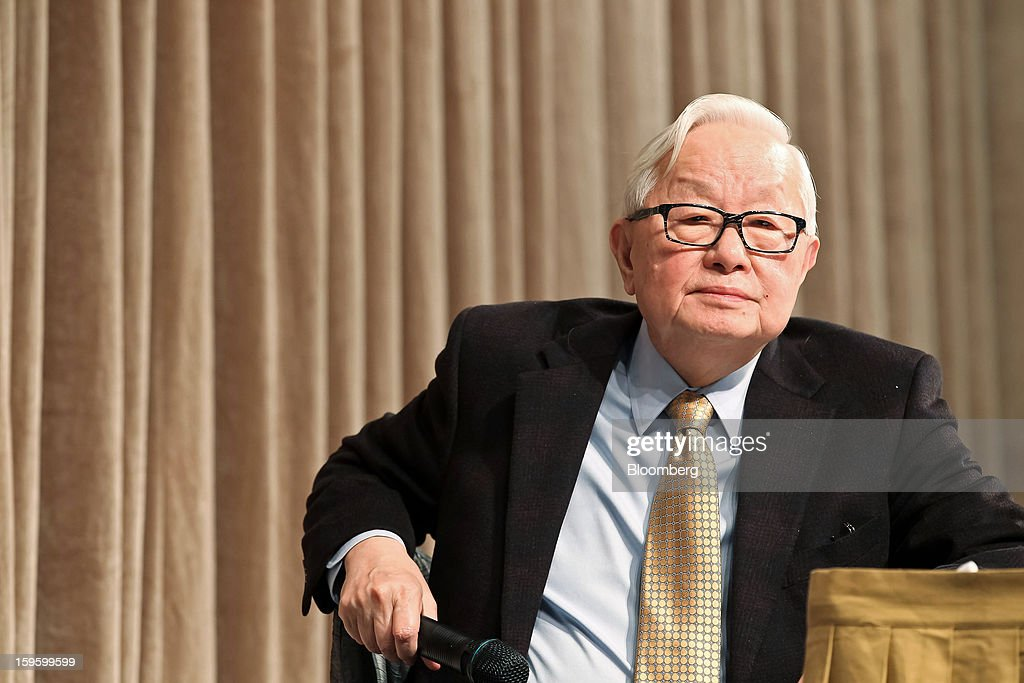 Morris Chang, chairman and chief executive officer of Taiwan Semiconductor Manufacturing Co. (TSMC), listens to a question during a news conference in Taipei, Taiwan, on Thursday, Jan. 17, 2013. Taiwan Semiconductor Manufacturing Co., the world's largest contract producer of chips, forecast sales surpassing analysts' estimates as demand for components used in phones and tablets continues to outstrip expectations. Photographer: Maurice Tsai/Bloomberg via Getty Images