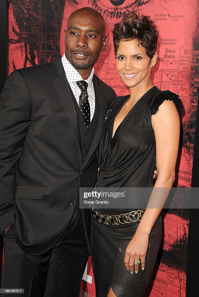 Morris Chestnut and Halle Berry arrives at the 'The Call' - Los Angeles Premiere at ArcLight Hollywood on March 5, 2013 in Hollywood, California.