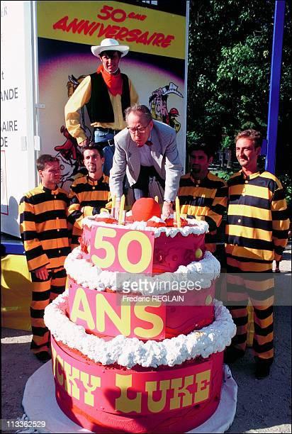 Morris Creator Of Lucky Luke On September 10th 1997 In France