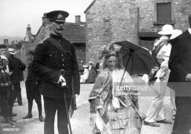 Morris Dance Queen Winster Derbyshire c1908 Photograph taken during one of British musicologist Cecil Sharp's expeditions to collect English folk...