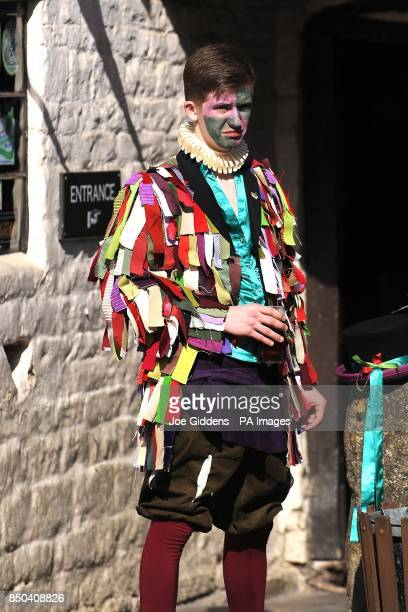 A morris dancer takes a break at the launch of British asparagus season A host of asparagus fans gather today St George's Day to eccentrically...
