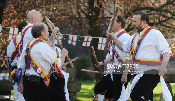 Morris dancers celebrate the launch of British asparagus season A host of asparagus fans gather today St Georges Day to eccentrically celebrate the...