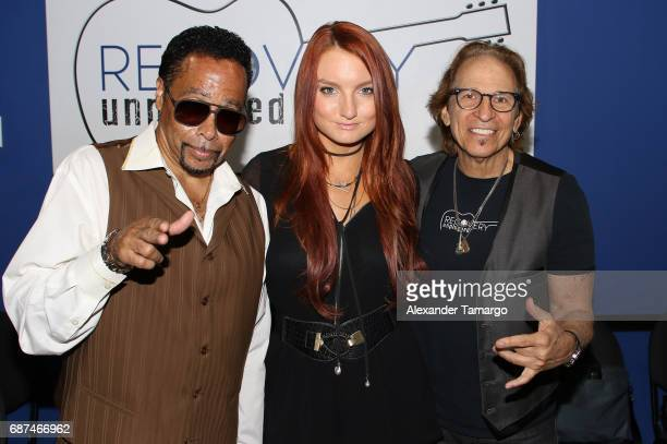 Morris Day Kendra Erika and Richie Supa pose at Recovery Unplugged Treatment Center on May 23 2017 in Ft Lauderdale Florida