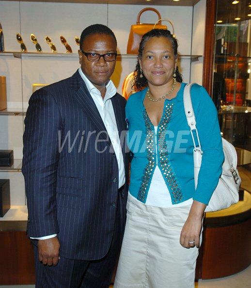 Morris L Reid and Christina Norman during Jaci Wilson Reid and ...