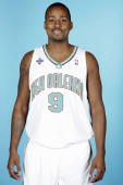Morris Peterson of the New Orleans Hornets poses during NBA Media Day at the New Orleans Arena October 1 2007 in New Orleans Louisiana NOTE TO USER...