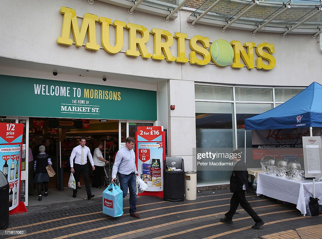 Morrisons supermarket at Wimbledon village has been renamed 'Murrisons' in honour of tennis player Andy Murray during the Wimbledon Lawn Tennis Championships on June 27, 2013 in London, England.