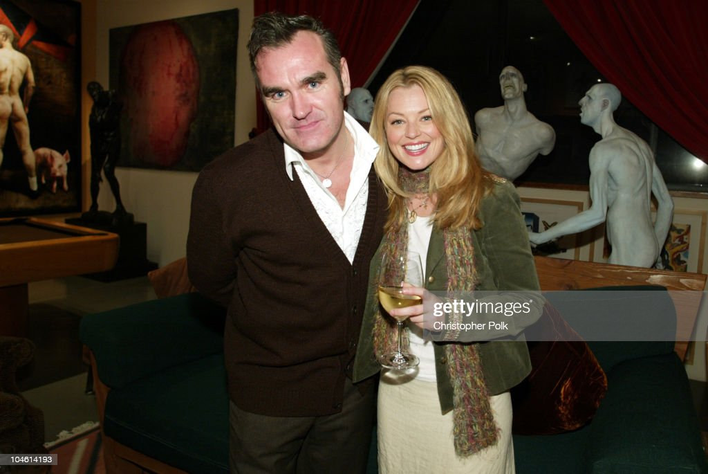 Morrissey and Charlotte Ross during Turkey Is Diner, Not Dinner, at Charlotte Ross's PETA Thanksgiving at Home of Celebrity Photographer Greg Gorman in Hollywood, CA, United States.