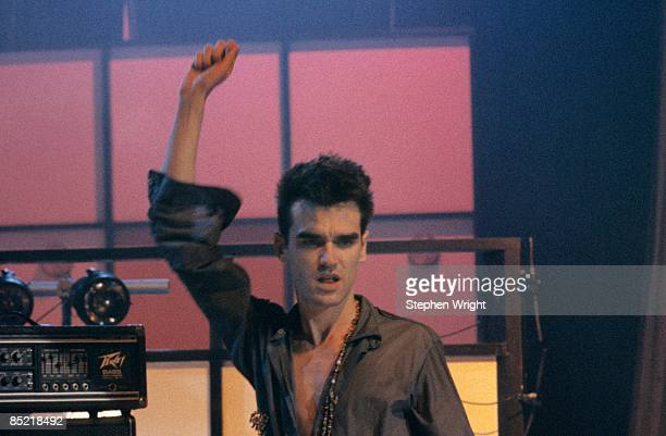 Photo of MORRISSEY and The Smiths Morrissey performing on the Oxford Roadshow