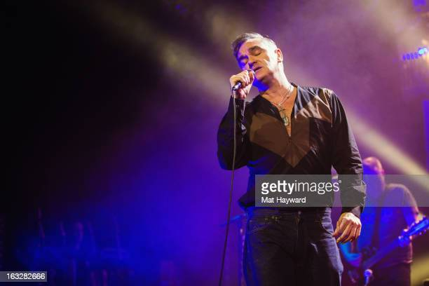 Morrissey performs at The Moore Theater on March 6 2013 in Seattle Washington