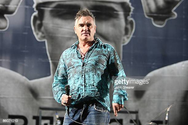 Morrissey performs during day 1 of the Coachella Valley Music Arts Festival 2009 at the Empire Polo Club on April 17 2009 in Indio California