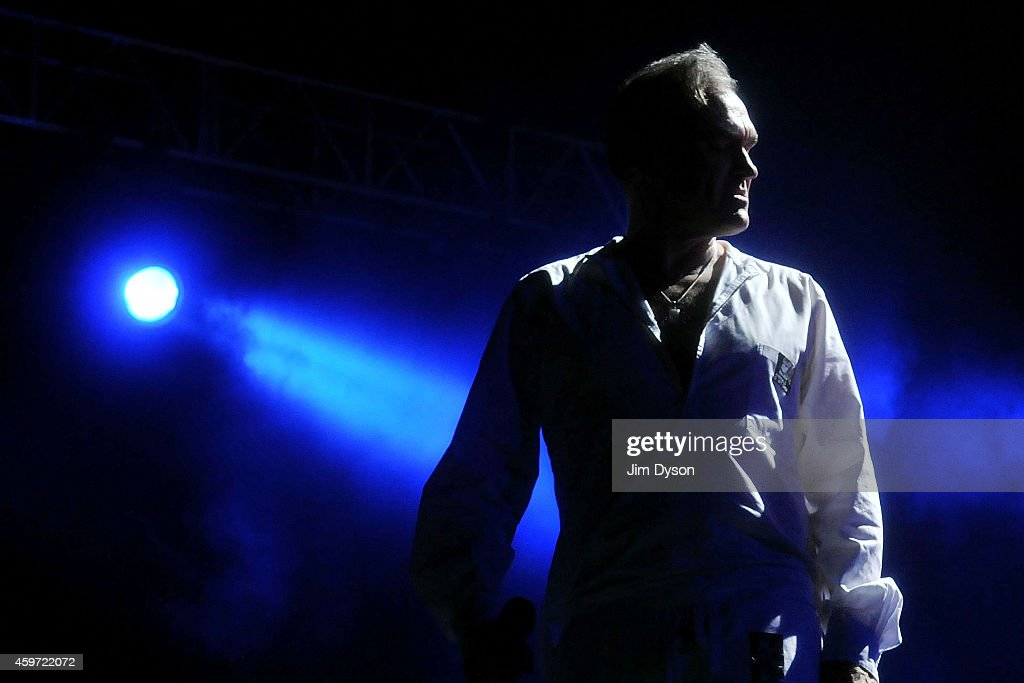 Morrissey performs live on stage at 02 Arena on November 29, 2014 in London, England.