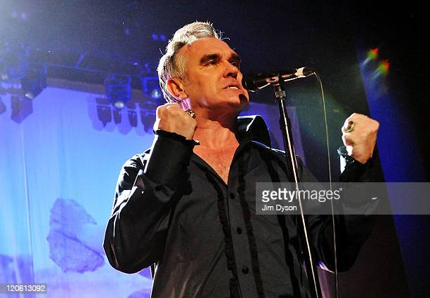Morrissey performs live on stage at Brixton Academy on August 7 2011 in London United Kingdom