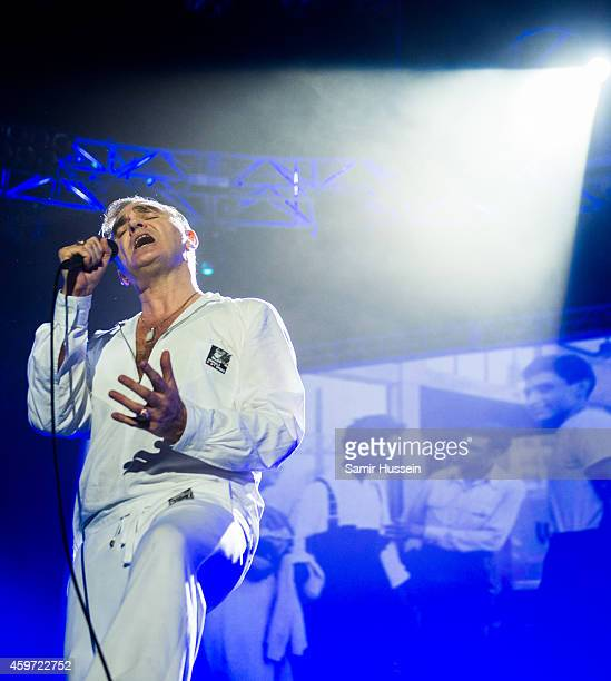 Morrissey performs live on stage at O2 Arena on November 29 2014 in London United Kingdom