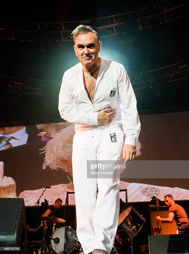 Morrissey performs live on stage at O2 Arena on November 29, 2014 in London, United Kingdom