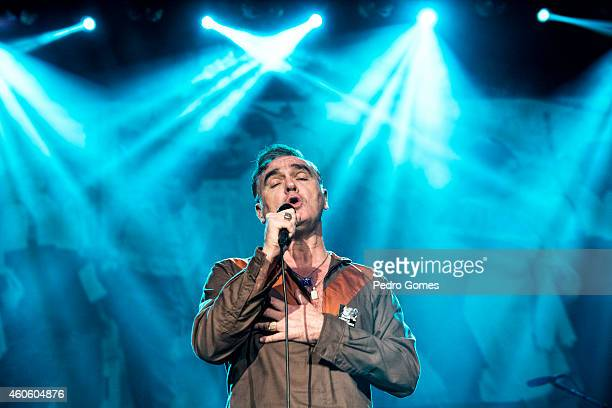 Morrissey performs on stage at Volkswagen Arena on December 17 2014 in Istanbul Turkey