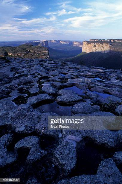 Morro do Pai Inácio at Chapada Diamantina in Bahia State Brazil Chapada Diamantina is an erosional landform a natural feature of the earth's surface...