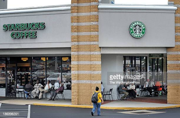 Morrocan immigrants gather socially and to help new arrivals navigate American life at the Starbucks June 2011 in Falls Church VA