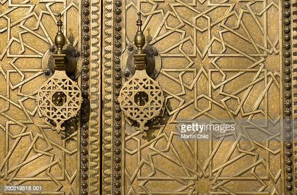 Morrocco, Fez, decorative door, close-up