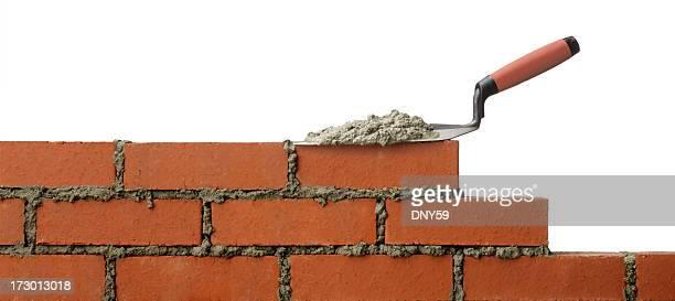 Stößel auf Kelle-Handwerk und Garten sitzen auf offenem Wand