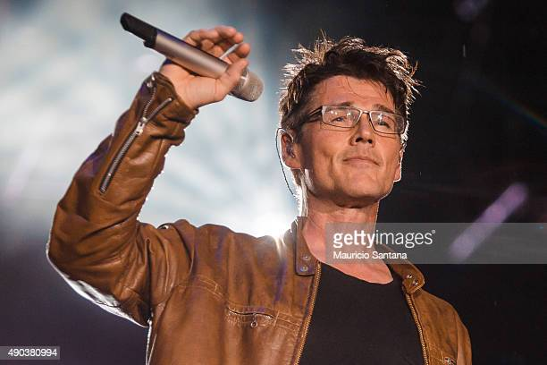 Morten Harket from AHA performs at 2015 Rock in Rio on September 27 2015 in Rio de Janeiro Brazil