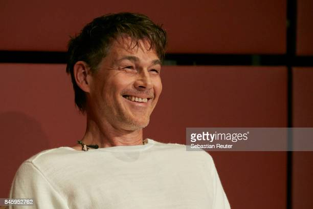 Morten Harket of Aha attends a press conference at Nordische Botschaften on September 12 2017 in Berlin Germany