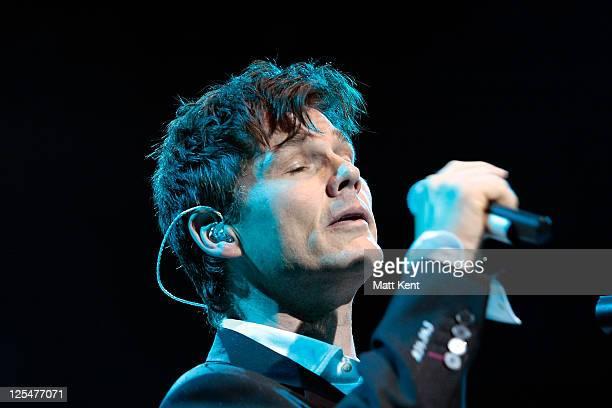 Morten Harket of aha performs at Royal Albert Hall on October 8 2010 in London England