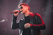 Morten Harket of Aha performs on stage at Manchester Arena on March 25 2016 in Manchester England